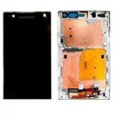 Sony Xperia S LT26i pantalla lcd + tactil negro + marco blan