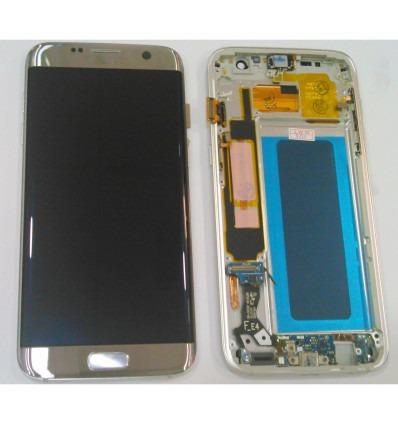 80ef59740fe Samsung Galaxy S7 Edge SM-G935F pantalla lcd calidad Oled + táctil plata + marco  compatible