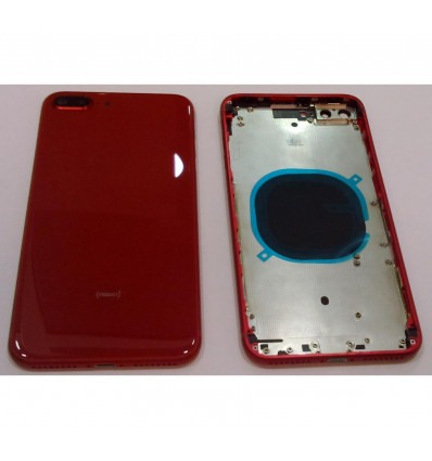 IPhone 8 Plus A1864 A1897 A1898 red back cover or battery cover with  central housing or frame