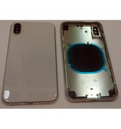 3c664d127d8 iPhone X A1865 A1901 A1902 carcasa central o marco + tapa trasera o tapa  bateria blanca