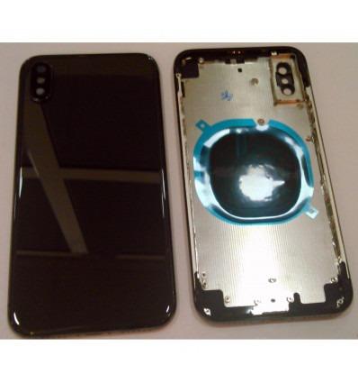 f4ed7c36c8e iPhone X A1865 A1901 A1902 carcasa central o marco + tapa trasera o tapa  bateria negra