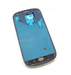 Samsung Galaxy S3 Mini I8190 blanco parte central + marco or
