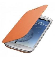 Samsung Galaxy S4 I9500 I9505 Flip cover naranja