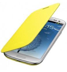 Samsung Galaxy S4 I9500 I9505 Flip cover Amarillo