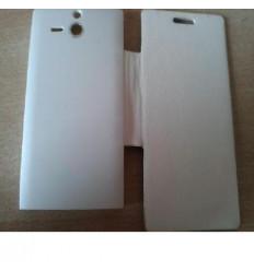 Sony Ericsson Xperia U ST25I Flip Cover blanco
