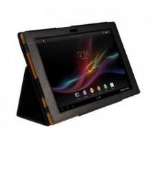 Funda de piel para Tablet Xperia Z color negro