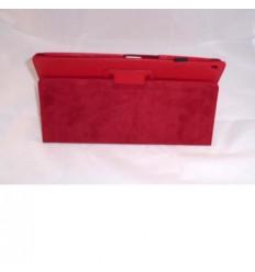 Funda de piel para Tablet Xperia Z color rojo