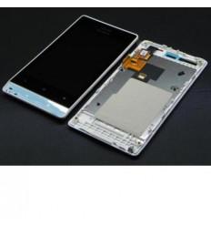 Sony Ericsson Xperia Miro ST23I LCD + Táctil + Marco blanco