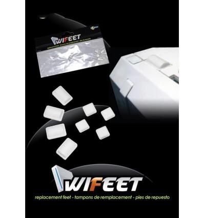 Pies de goma y adhesivos tornillos WII