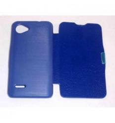 BQ Aquaris 4.5 Flip cover con iman carcasa Azul Oscuro