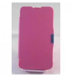 BQ Aquaris 4.5 Flip cover con iman carcasa rosa