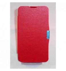 BQ Aquaris 5 Flip cover con iman carcasa rojo
