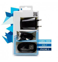 Cargador iPhone 5 Todo en 1 (COMP.IOS 7) Negro