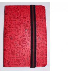 "Funda Tablet Univ. 6"" diseño Rojo Velcro Restraint System"
