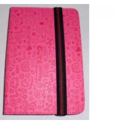 "Funda Tablet Univ. 6"" diseño Rosa Oscuro Velcro Restraint Sy"