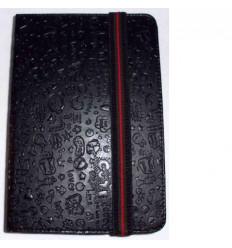 "Funda Tablet Univ. 6"" diseño Negro Velcro Restraint System"