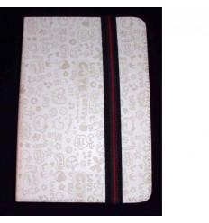 "Funda Tablet Univ. 6"" diseño blanca Velcro Restraint System"