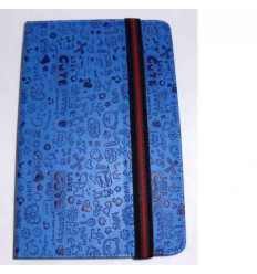 "Funda Tablet Univ. 6"" diseño azul marino Velcro Restraint Sy"