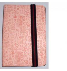 "Funda Tablet Univ. 7"" diseño rosa claro Velcro Restraint Sys"