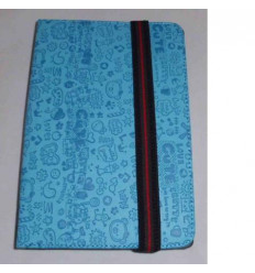 "Funda Tablet Univ. 7"" diseño azul celeste Velcro Restraint S"