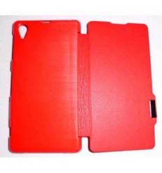 Sony Xperia Z1 L39H Flip Cover con iman Rojo