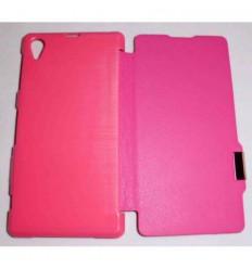 Sony Xperia Z1 L39H Flip Cover con iman Rosa