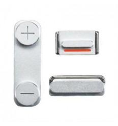 iPhone 5S Set 3 Piezas Botones Silver Original