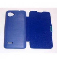"BQ Aquaris 3.5"" Flip cover con iman carcasa azul marino"