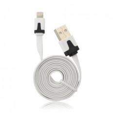 Cable Usb Plano Blanco iPhone 5/5C/5S/6/6+/6s/6s iPad Mini C
