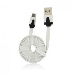 Cable USB - Micro USB Universal Plano Blanco