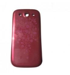 Samsung Galaxy S3 I9300 Tapa Batería roja flores
