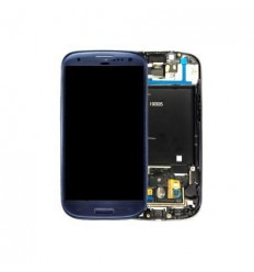 Samsung Galaxy S3 I9305 Lte Lcd + Táctil + Marco azul origin