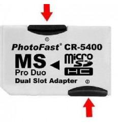 Adaptador DOBLE compatible Micro sd -Memory stick hasta 32 G