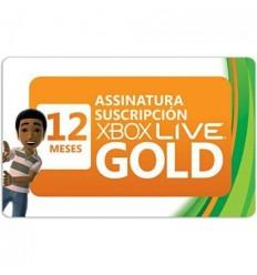 Tarjeta prepago Xbox Live Gold 12 meses