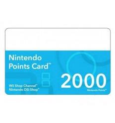 Tarjeta 2000 puntos (DSiWare & WiiWare)