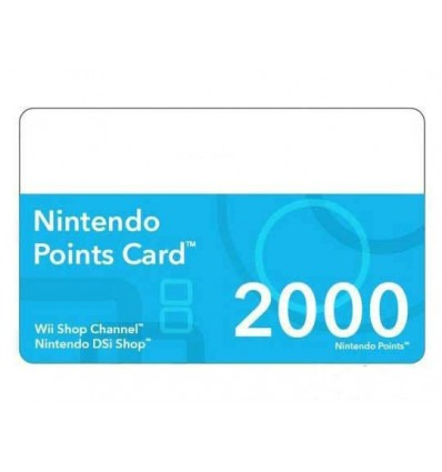 2000 Points Card (DSiWare & WiiWare)
