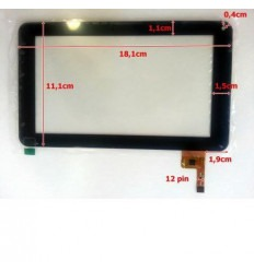 """Pantalla Táctil repuesto tablet china 7"""" Modelo 25"""