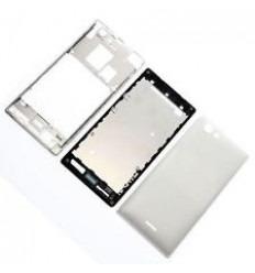 Sony Xperia J ST26I Carcasa Central + Tapa Batería blanco