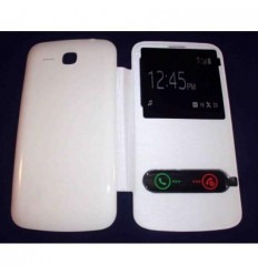 Funda Inteligente S-VIEW Cover blanco Huawei Ascend Y600