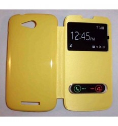 Funda Inteligente S-VIEW Cover amarillo Huawei Ascend B199