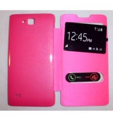 Funda Inteligente S-VIEW Cover rosa Huawei Ascend c8816