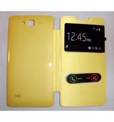 Funda Inteligente S-VIEW Cover amarillo Huawei Ascend c8816