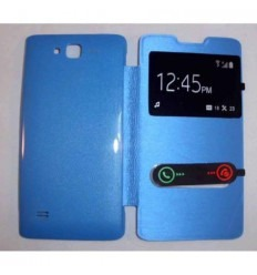 Funda Inteligente S-VIEW Cover azul celeste Huawei Ascend c8