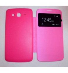 Funda inteligente S-View Cover rosa Samsung Galaxy Grand 2 G