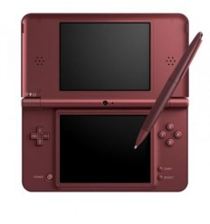 Nintendo DSi XL shell wine red