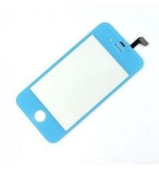 iPhone 4 4S Cristal + Digitalizador azul celeste