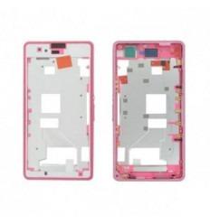Sony Xperia Z1 Mini D5503 Z1C M51W marco frontal rosa