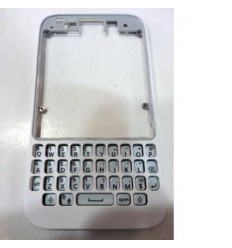 Blackberry Q5 marco frontal + teclado blanco original