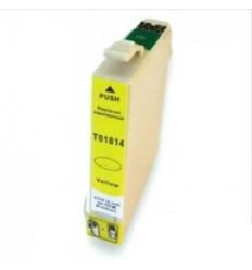 Cartucho reciclado Epson T01814 amarillo