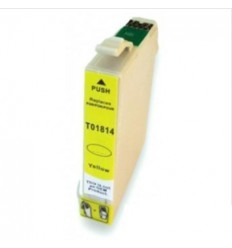 Recicled cartridge Epson Stylus T01814 yellow